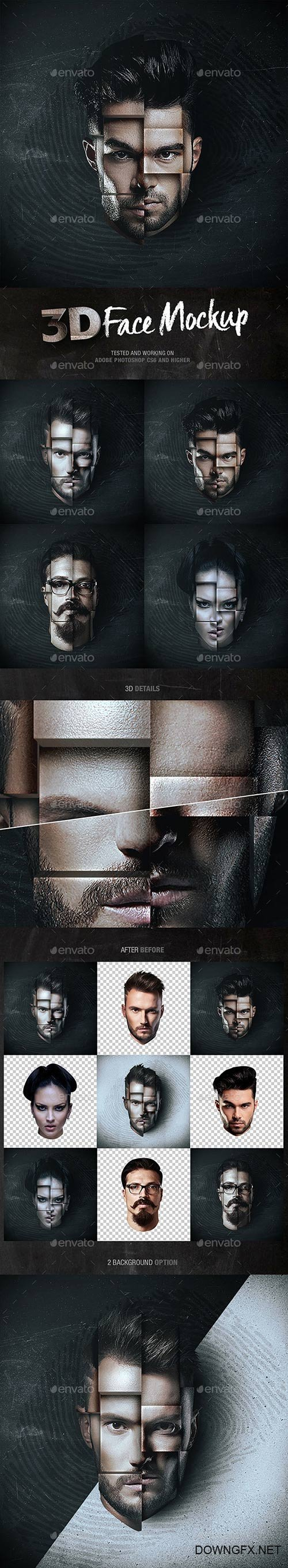 Graphicriver - 3D Face Mockup 22149241