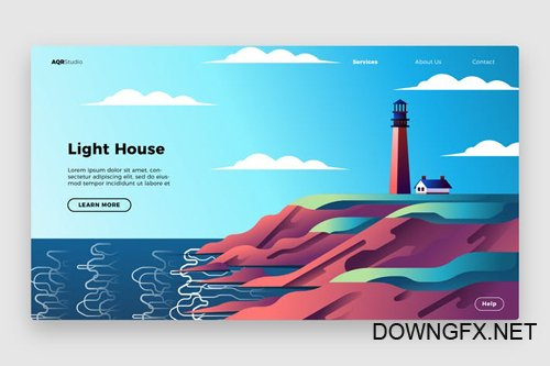 Light House - Banner & Landing Page