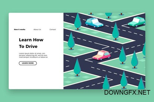 Driving School - Banner & Landing Page