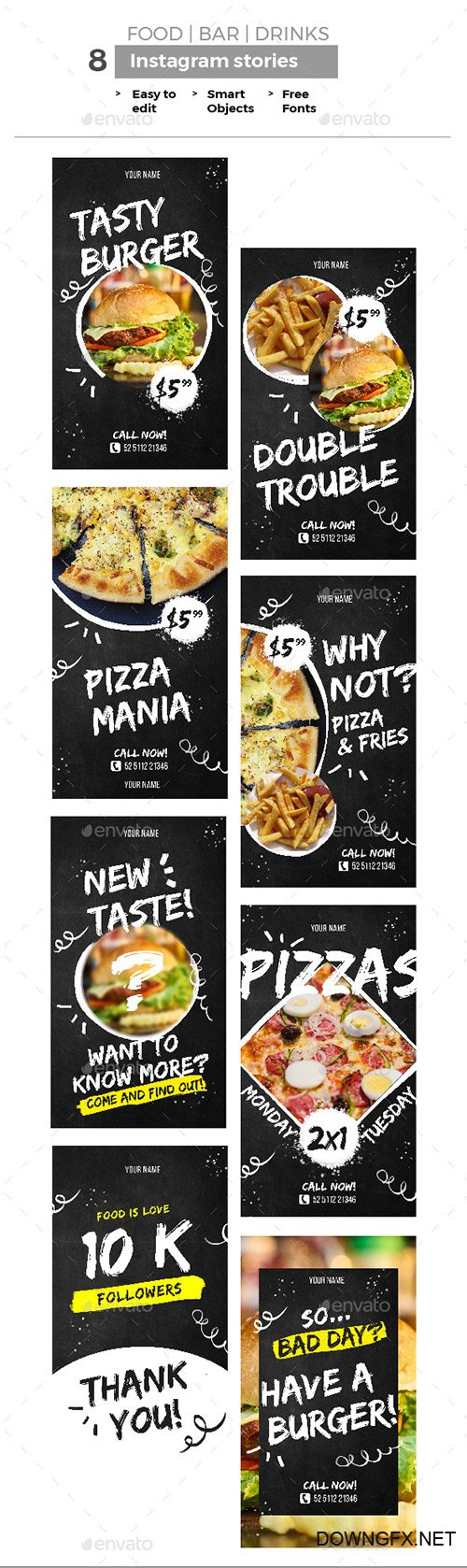 GraphicRiver - Food Instagram Stories 22170938