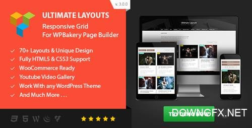 CodeCanyon - Ultimate Layouts v3.0.0 - Responsive Grid & Youtube Video Gallery - Addon For WPBakery Page Builder - 17454996