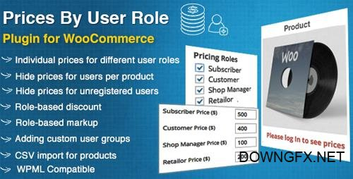 CodeCanyon - Prices By User Role for WooCommerce v4.3 - 8562616