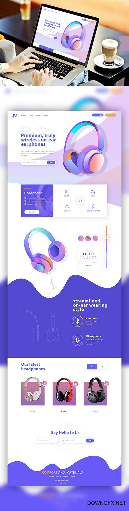 PSD Web Template - Music E-Commerce Landing Home Page