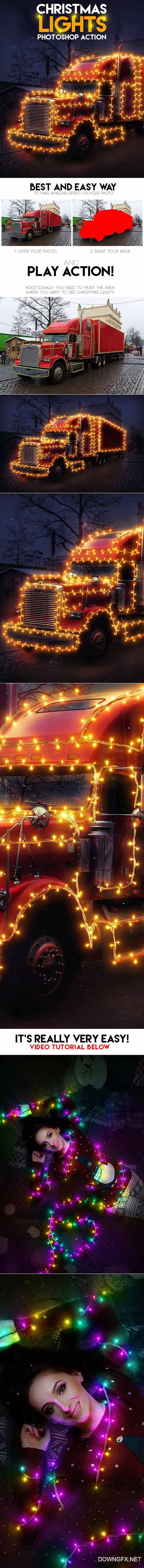 GraphicRiver - Christmas Lights Photoshop Action 19196889