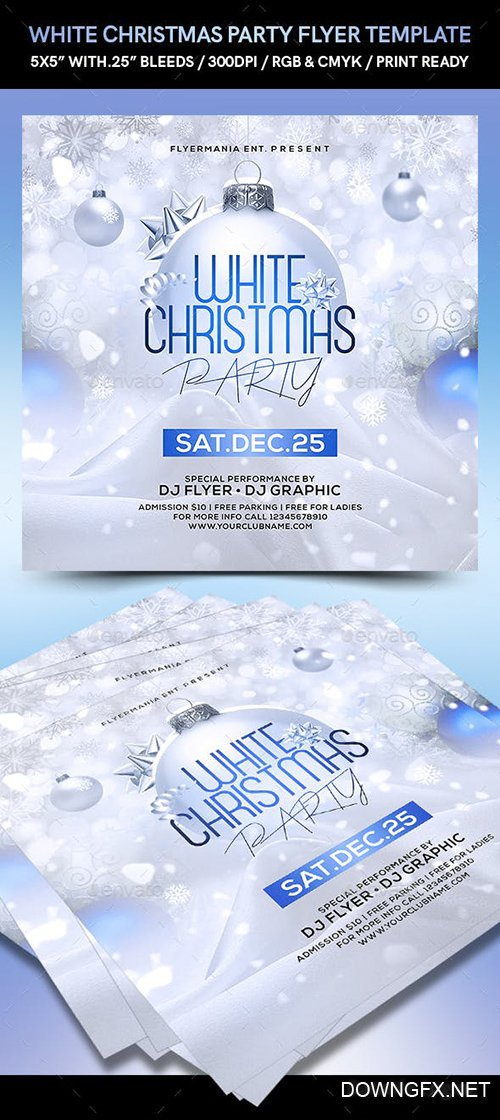 GraphicRiver - White Christmas Party Flyer Template 22713168