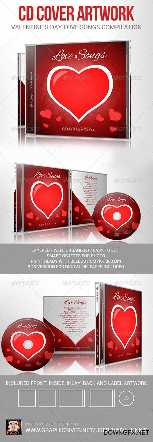 Love Songs for Valentine's Day CD Cover Artwork 6512774