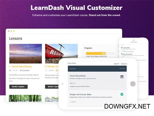 Learndash Visual Customizer v1.7.5.1 - SnapOrbital