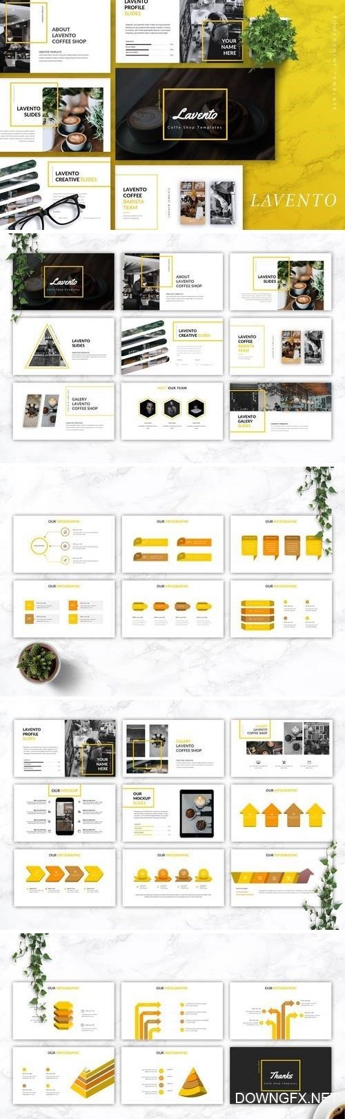 LAVENTO - Powerpoint, Keynote, Google Sliders Templates