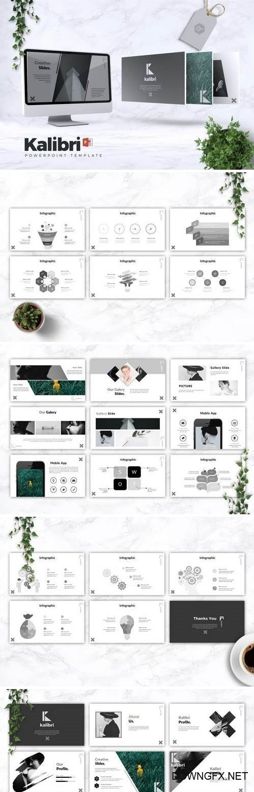 KALIBRI - Powerpoint, Keynote, Google Sliders Templates