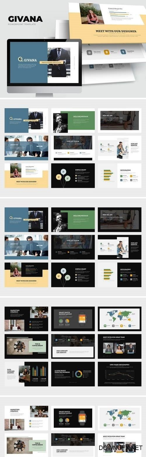 Givana : Creative Industry Profile Powerpoint