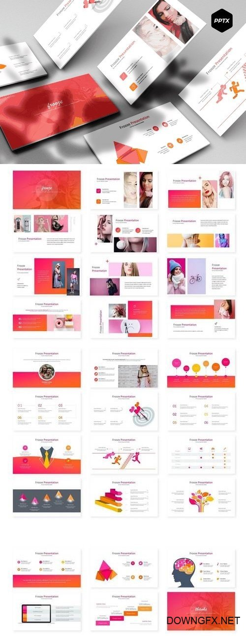 Frooze - Powerpoint, Keynote, Google Sliders Templates