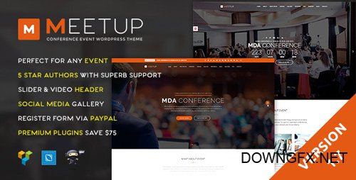 ThemeForest - Meetup v1.7 - Conference Event WordPress Theme - 13633735