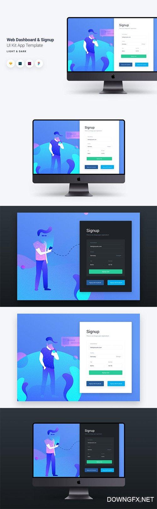 Web Dashboard & Chat UI Kit App Template 9 » DOWNGFX.NET