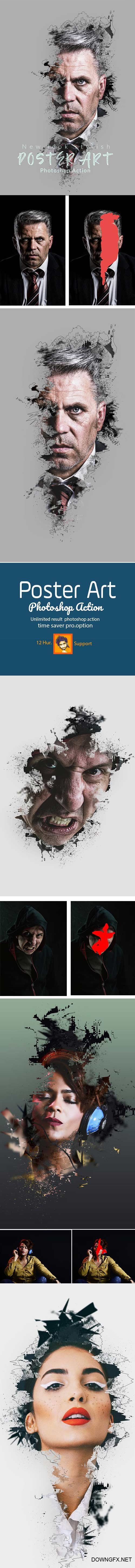 GraphicRiver - Poster Art Photoshop Action 23094765