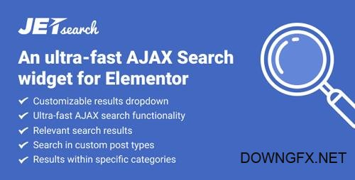 CodeCanyon - JetSearch v1.0.0 - the fastest tool to implement search functionality to Elementor-built pages - 23163509
