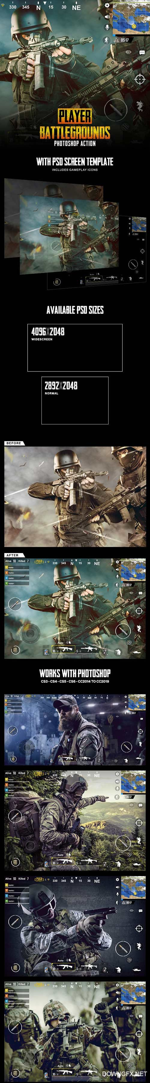 Graphicriver - Player Battlegrounds Photoshop Action 23123275