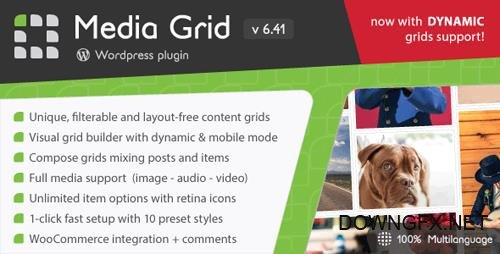 CodeCanyon - Media Grid v6.41 - Wordpress Responsive Portfolio - 2218545