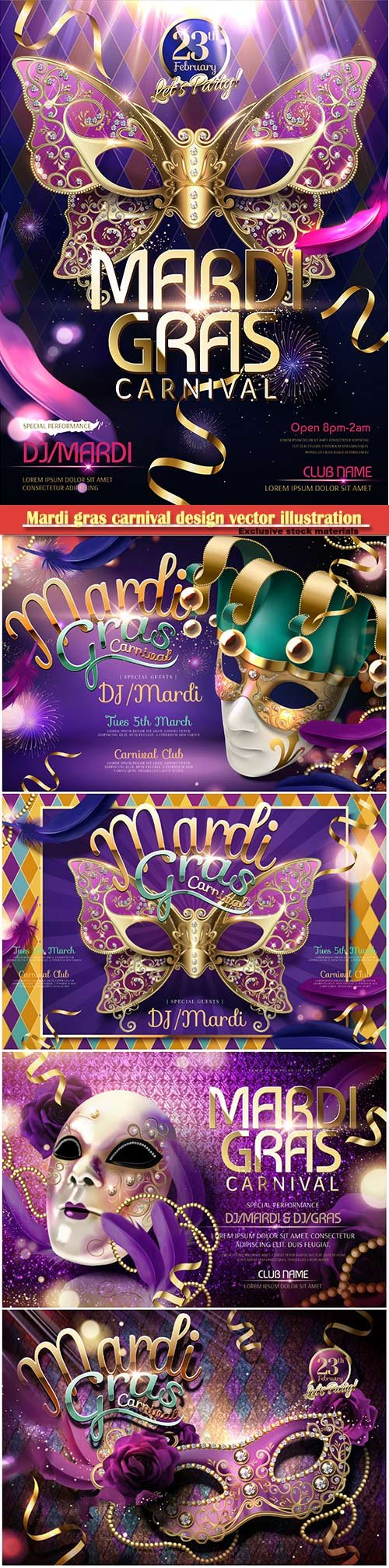 Mardi gras carnival design vector illustration