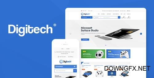 ThemeForest - Digitech v1.0.5 - Technology Theme for WooCommerce WordPress - 22373288