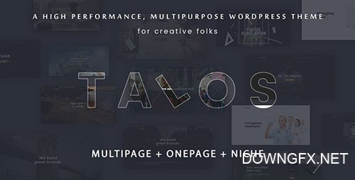 ThemeForest - Talos v1.2.4 - Creative Multipurpose WordPress Theme - 19294792