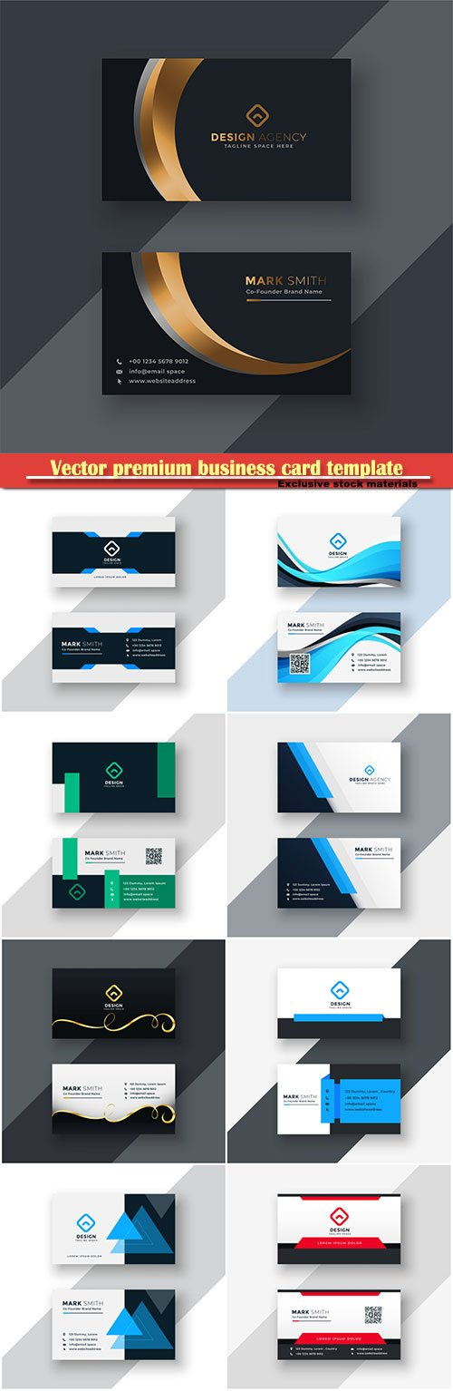 Vector premium business card template