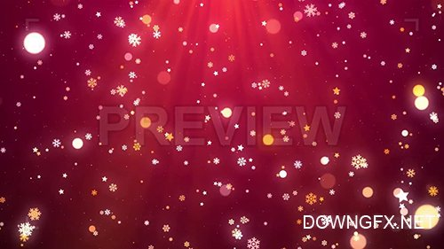 MA - Snowflakes, Stars, Bokeh Christmas Background 144601