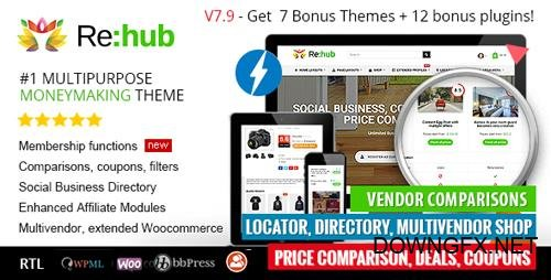 ThemeForest - REHub v7.9.4 - Price Comparison, Affiliate Marketing, Multi Vendor Store, Community Theme - 7646339 - NULLED