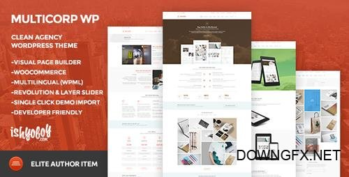 ThemeForest - Multicorp WP v2.1 - Clean Agency WordPress Theme - 10394099