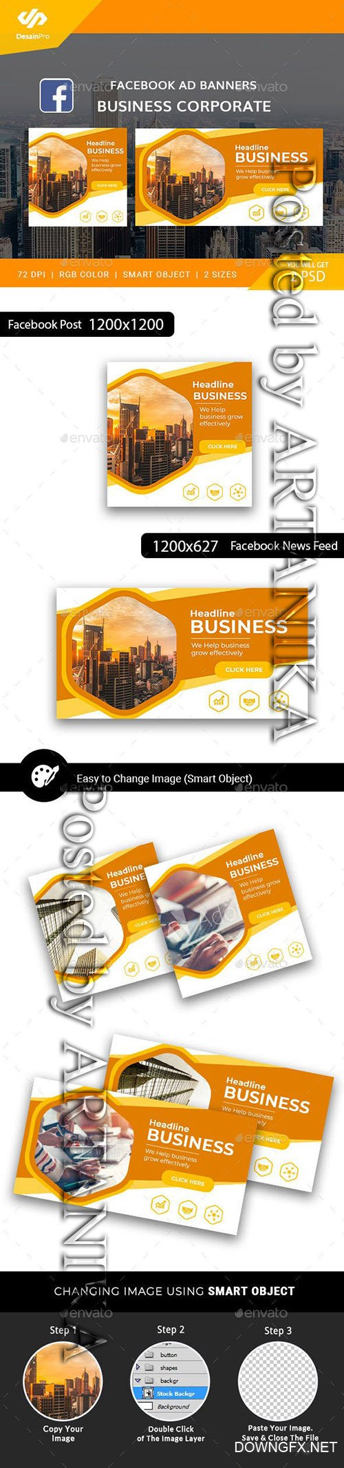 GraphicRiver - Business Corporate Facebook Ad Banners - AR 21892758