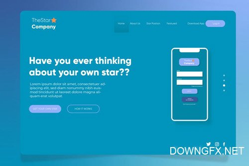 Company Star - Banner & Landing Page