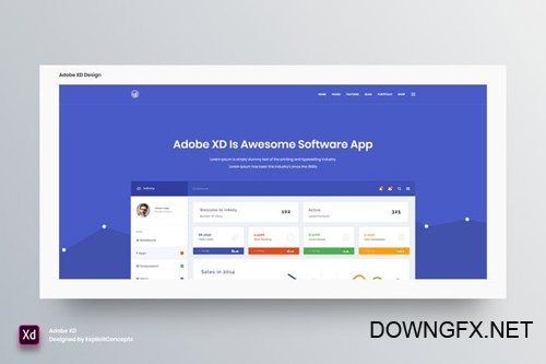 Hero Header Vol 09 - Adobe XD