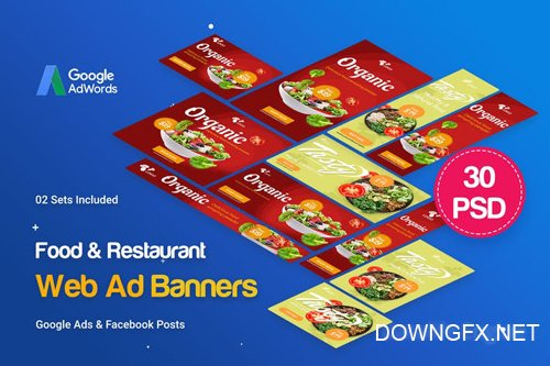 Food & Restaurant Banners Ad - 30 PSD [02 Sets] - 7S8JLX