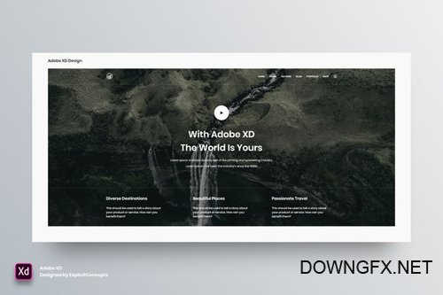 Hero Header Vol 14 - Adobe XD