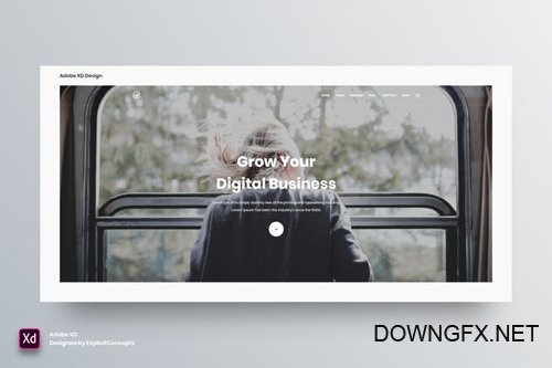 Hero Header Vol 18 - Adobe XD