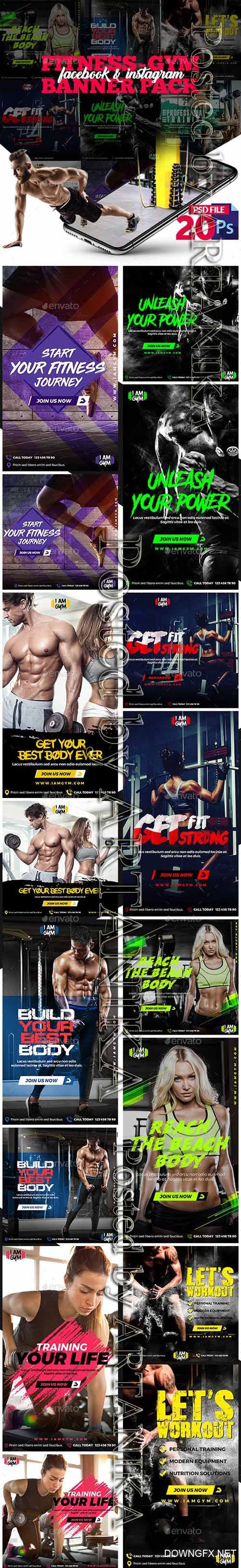 GraphicRiver - Fitness-GYM Instagram Post and Stories 23216304