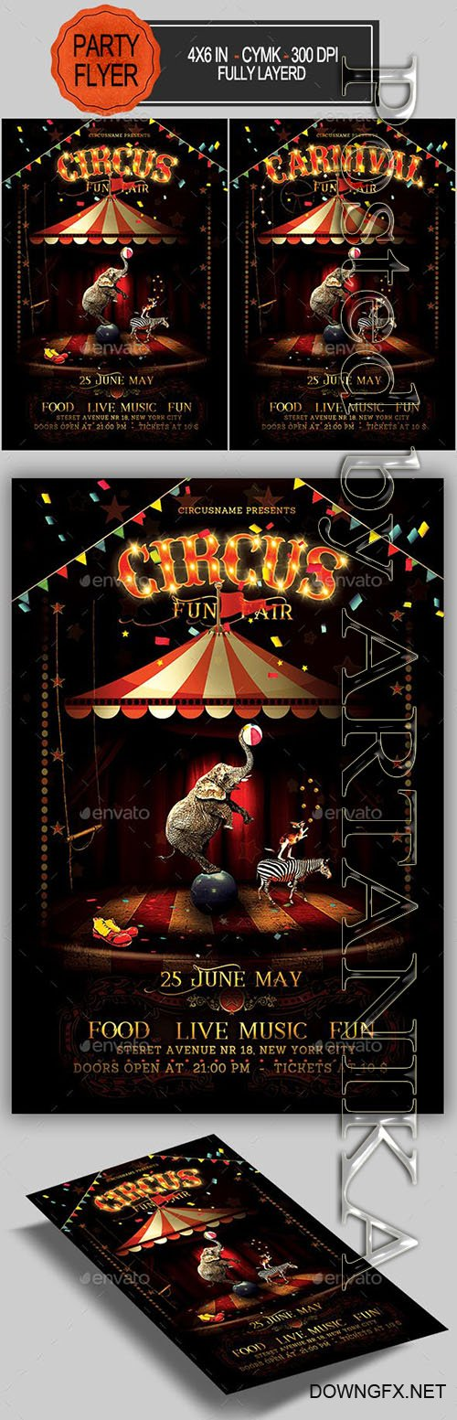 GraphicRiver - Circus Flyer 23059928