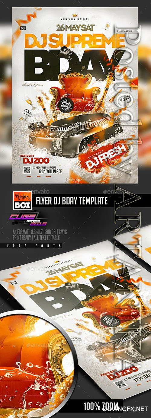 GraphicRiver - Flyer Dj Bday Template 23160111