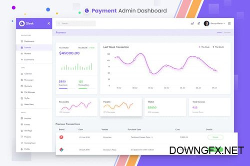 Payment Admin Dashboard UI Kit