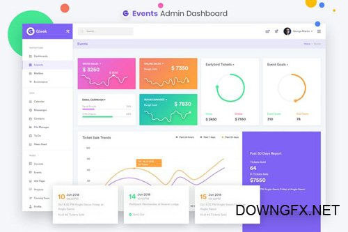 Events Admin Dashboard UI Kit