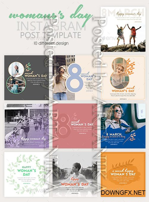 GraphicRiver - Instagram Post Templates - Woman's Day 23268565