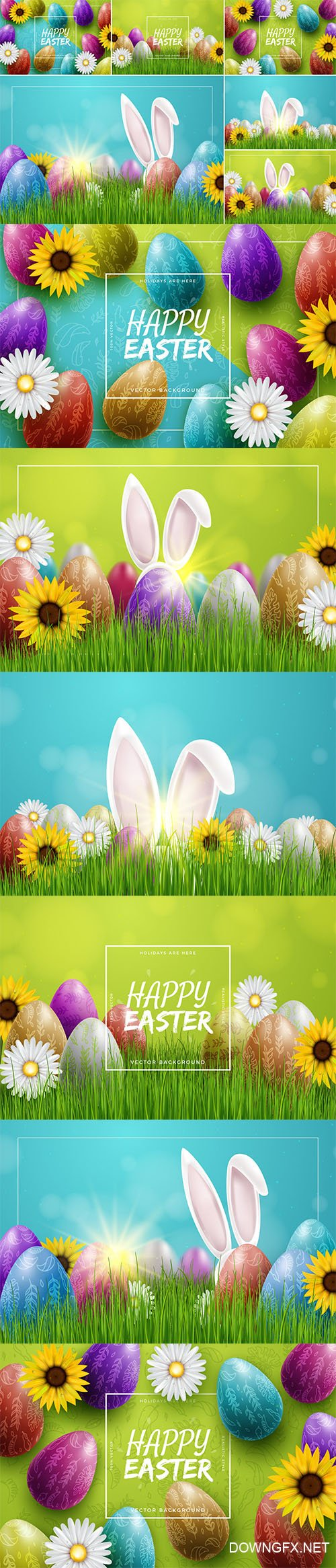 Colorful Easter Backgrounds