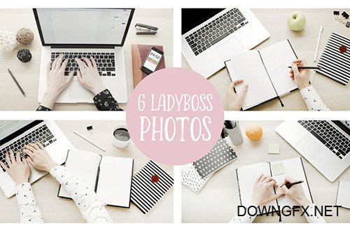 Lady boss mockups and photos PSD