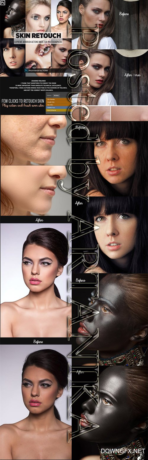 GraphicRiver - Easy Skin Retouch Photoshop Actions 23160423