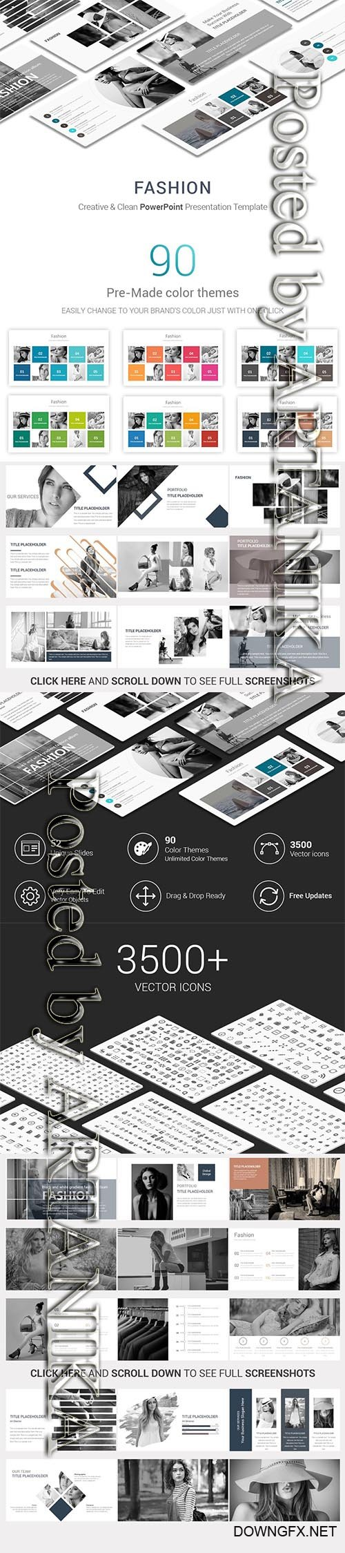CreativeMarket - Fashion PowerPoint Presentation Temp 2314259
