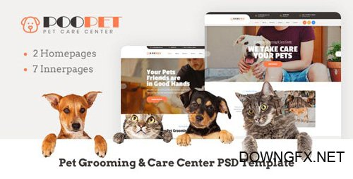 ThemeForest - Poopet v1.0 - Pet Grooming Care Center PSD Template - 23446692