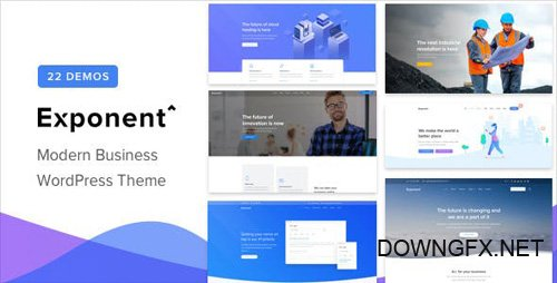 ThemeForest - Exponent v1.0.4 - Modern Multi-Purpose Business WordPress theme - 23211123