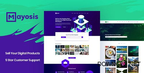 ThemeForest - Mayosis v2.5.2 - Digital Marketplace WordPress Theme - 20210200