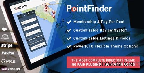 ThemeForest - Point Finder Directory v1.8.9.5 - Directory & Listing WordPress Theme - 10298703 - NULLED