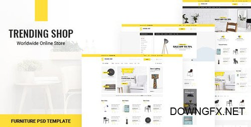 ThemeForest - Trending Shop v1.0 - Furniture PSD Template - 21325993