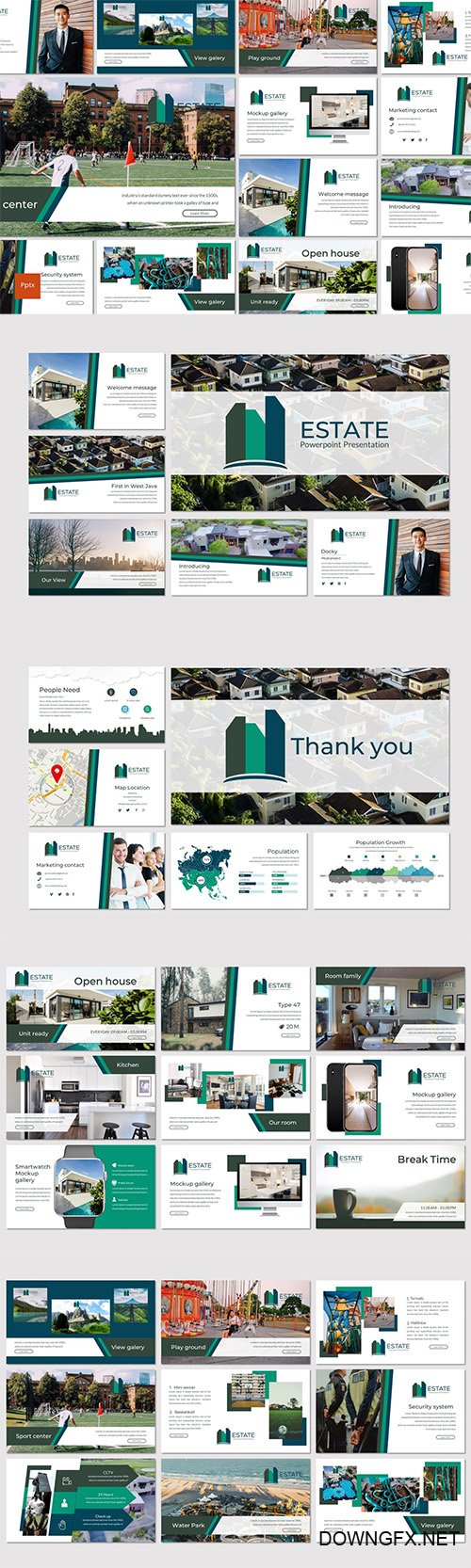 Estate - Creative Powerpoint Keynote and Google Slides Templates
